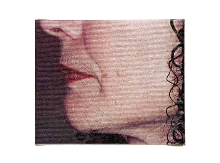 Image: Suzy Lake, Thin Magenta Line, archival ink print, 10 x 12 cm. Courtesy of the Luciano Benetton Collection.