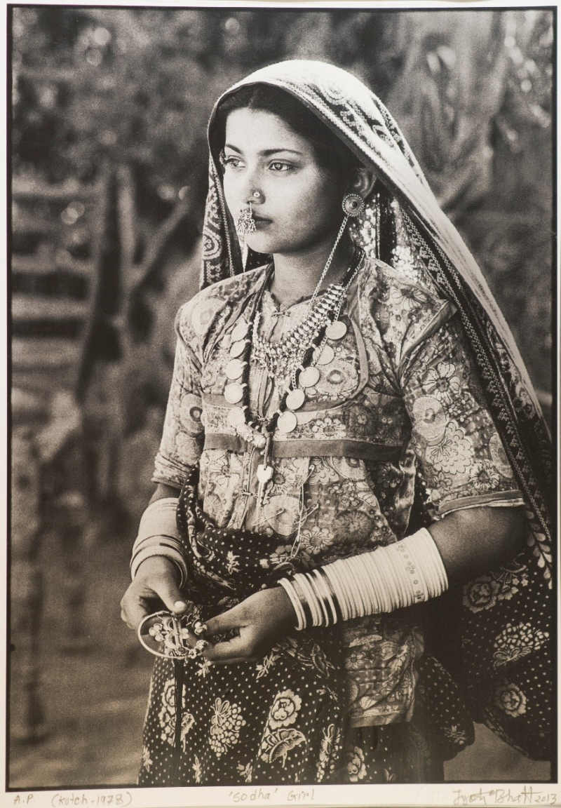 b & w photo of a woman with veil