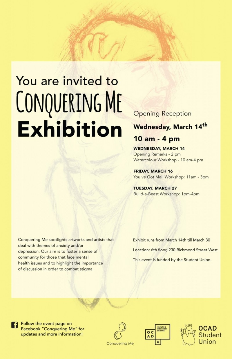 Conquering Me Exhibition Poster