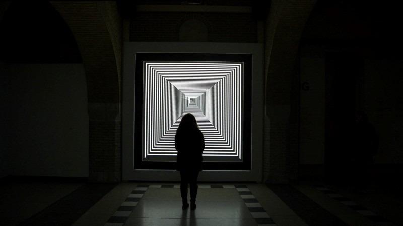 Installation view: Daniel Iregui,FORWARD, 2015. Two-channel installation.