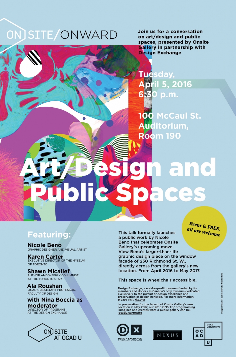 Art/Design and Public Spaces Poster