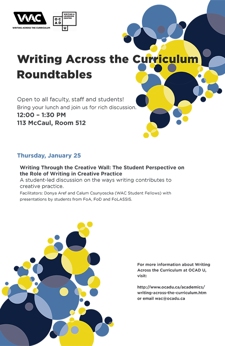 WAC Roundtable: Thursday January 25th 2018