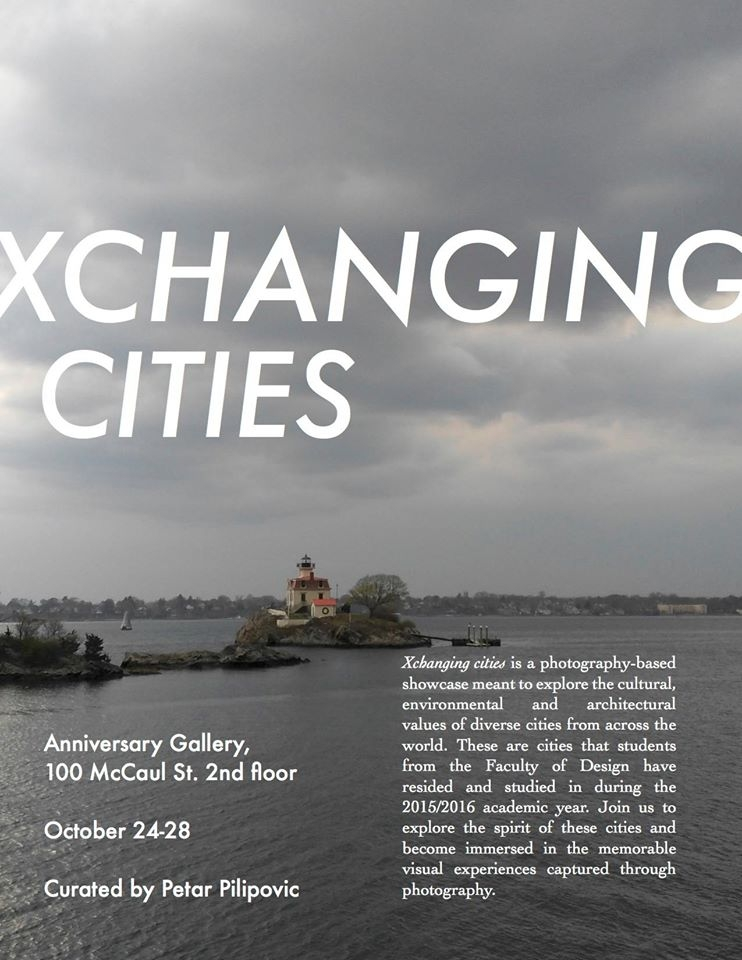 XCHANGING CITIES poster with event info