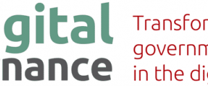 "Large text reading ""Digital Governance: transforming government practice in the diigtal era"""