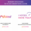 Winning designs in 'I Voted' sticker competition