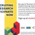 Be a part of Toronto's first student housing research study. Compensation will be provided. Visit studentdwellto.ca for more.