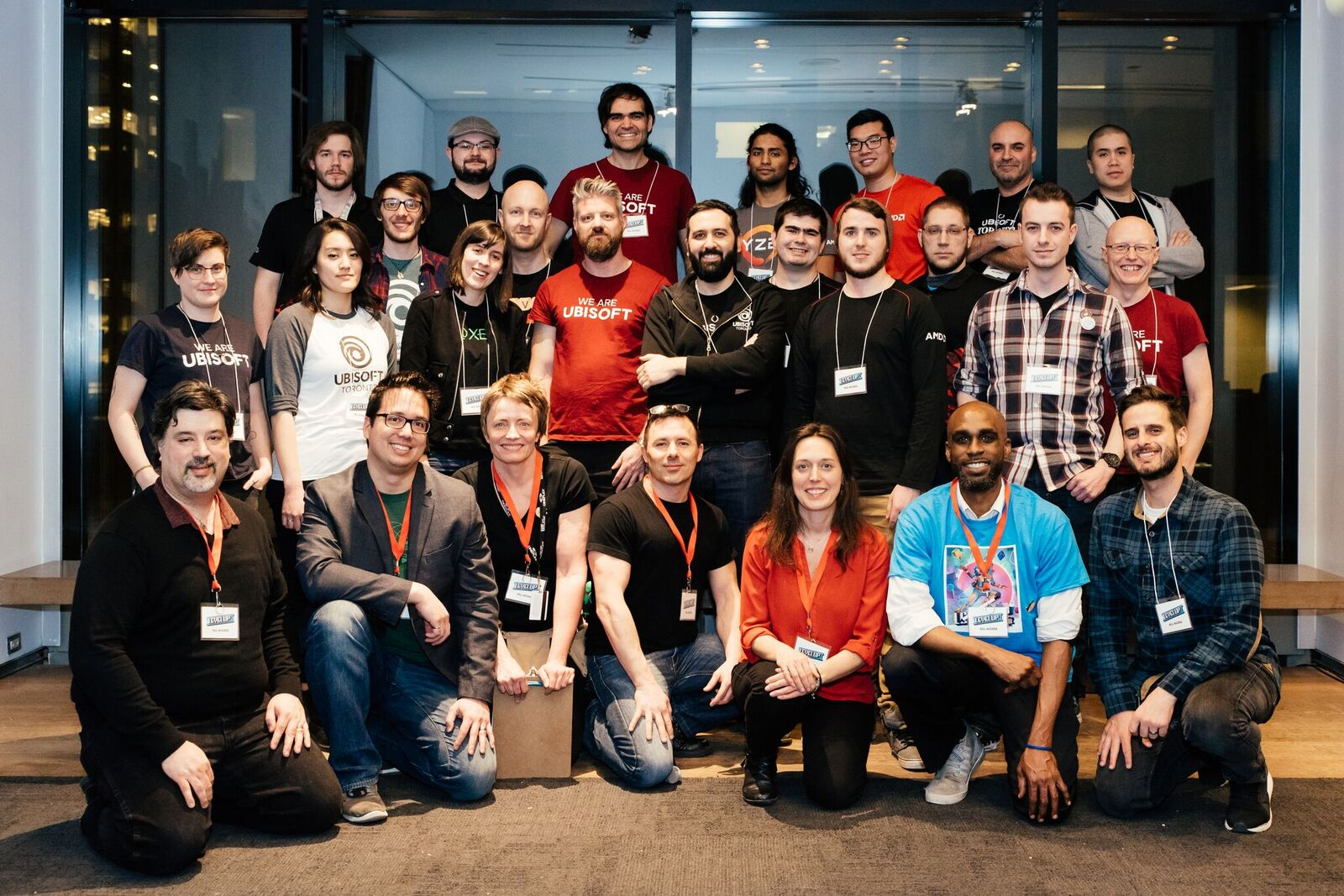 Group photo of about 25 people