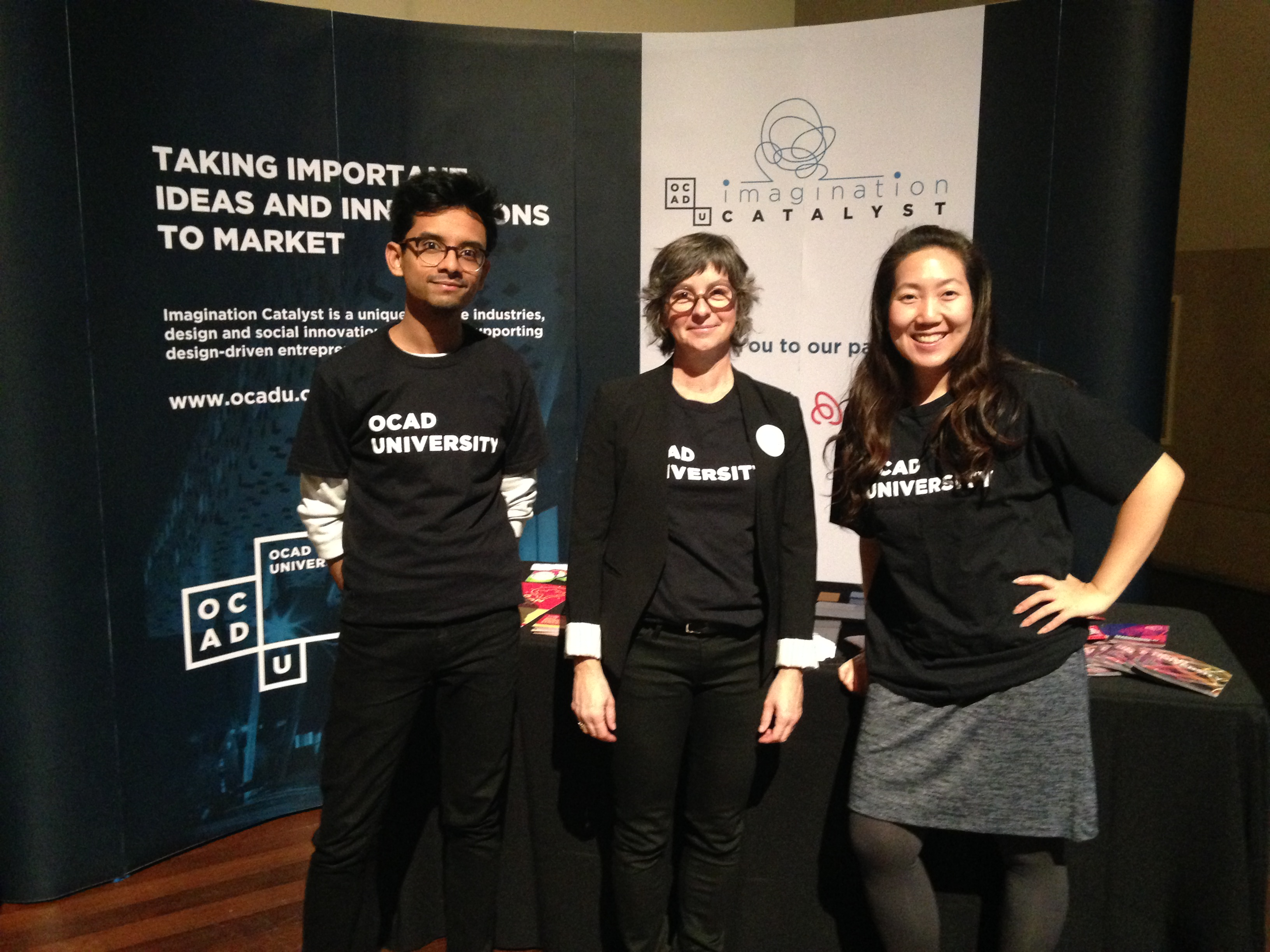 left to right: Sabid Ali and Kathryn Ellis, Imagination Catalyst and Karen Kwon, Executive Education, OCAD U