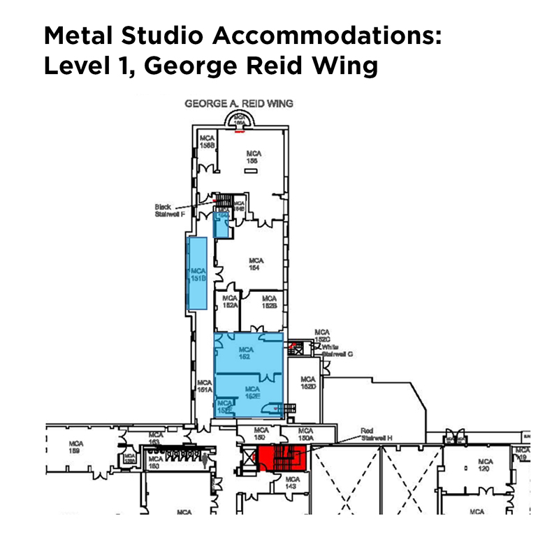 Metal Studio accommodations: Level 1, George Reid Wing