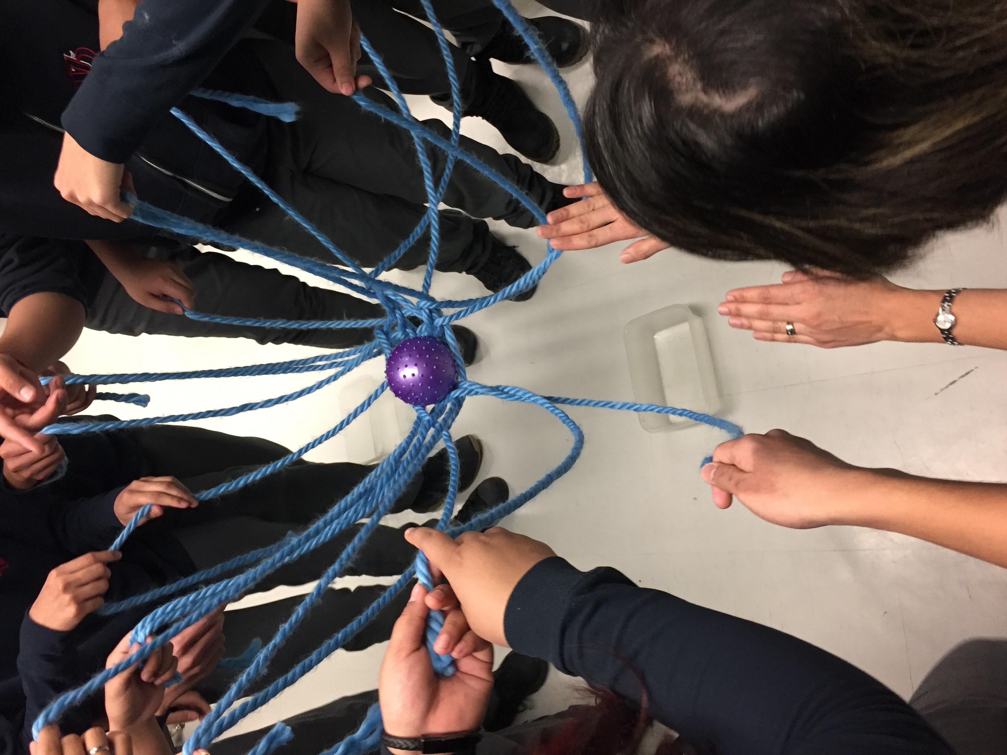 Web of Strings activity in Storytelling Co-design Workshops - Spring 2019