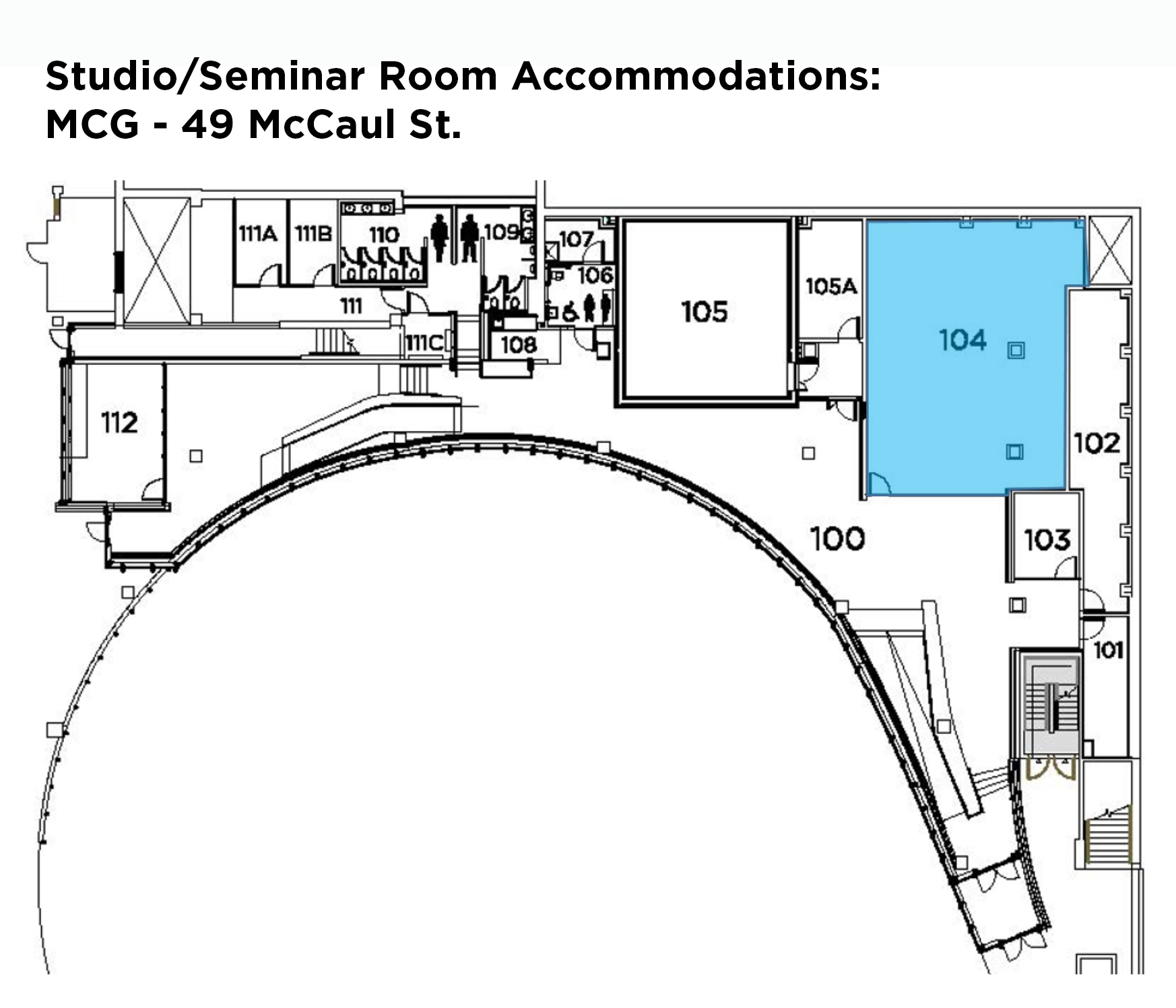 Studio/Seminar accommodations: MCG 49 McCaul