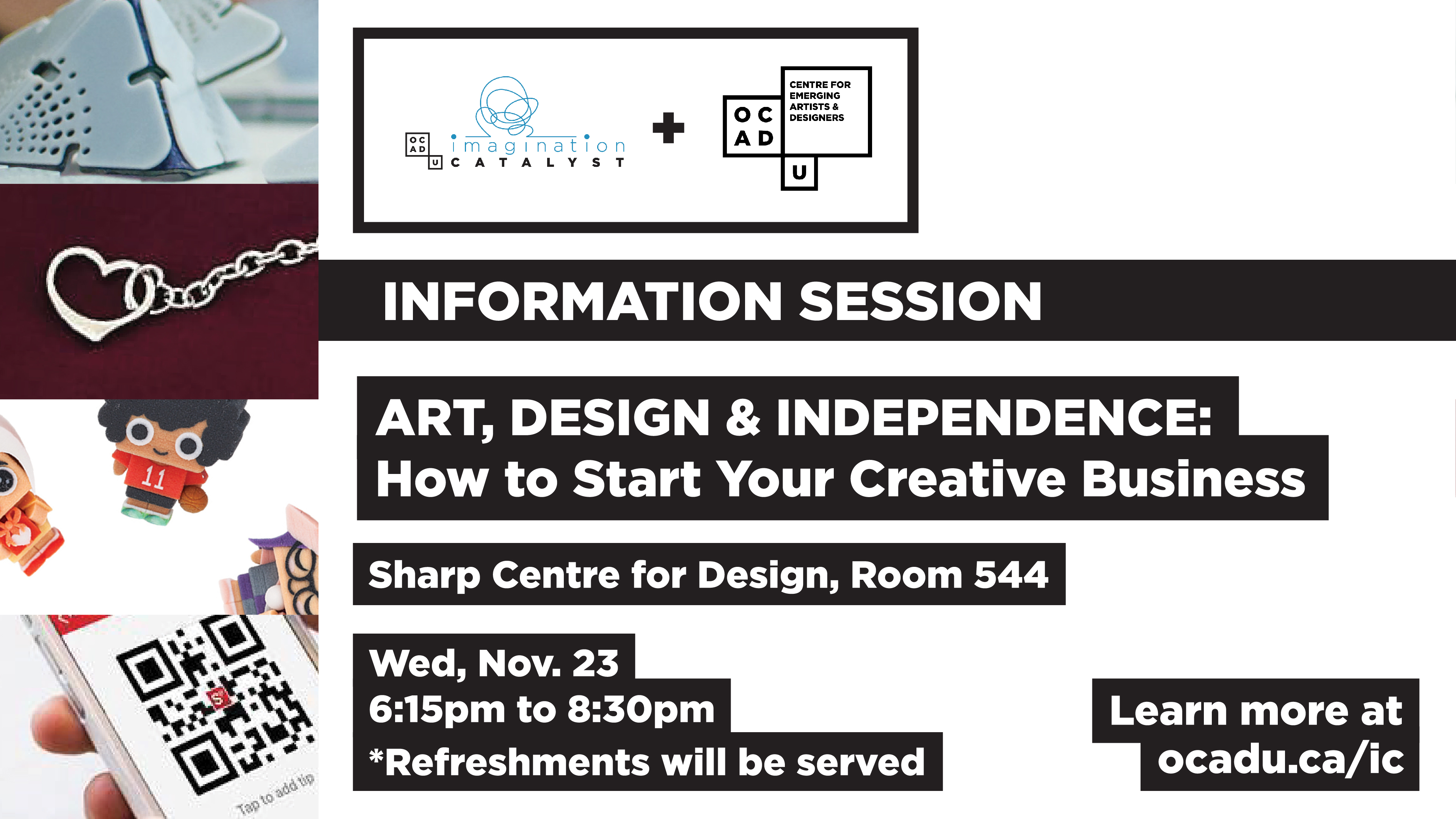 Information Session Art Design & Independence: How to Start Your Creative Business