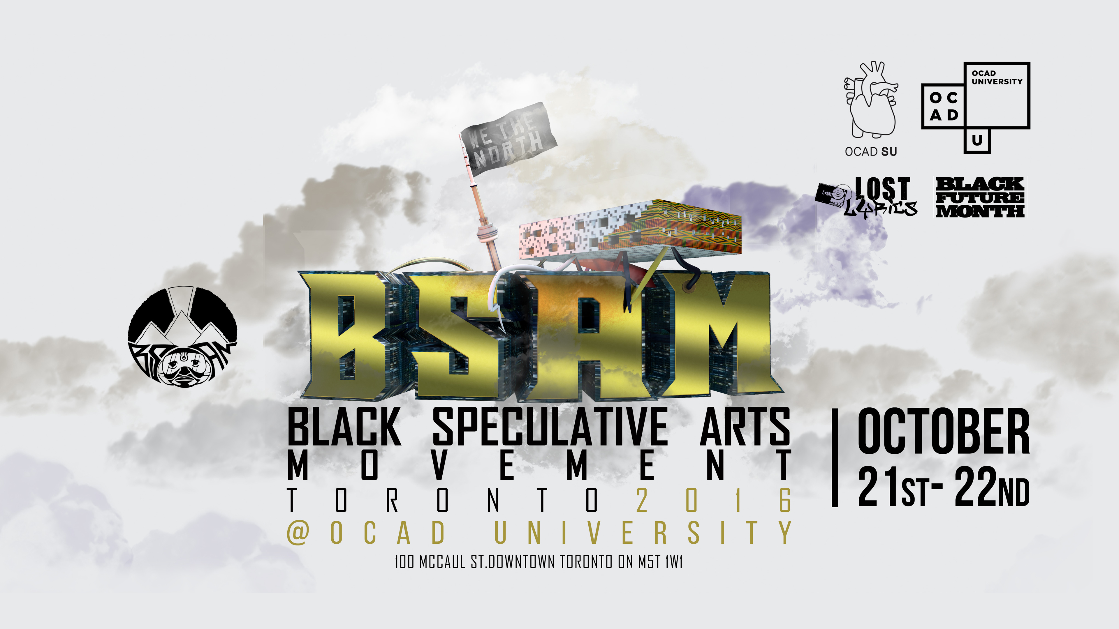 Black Speculative Arts Movement poster with event info