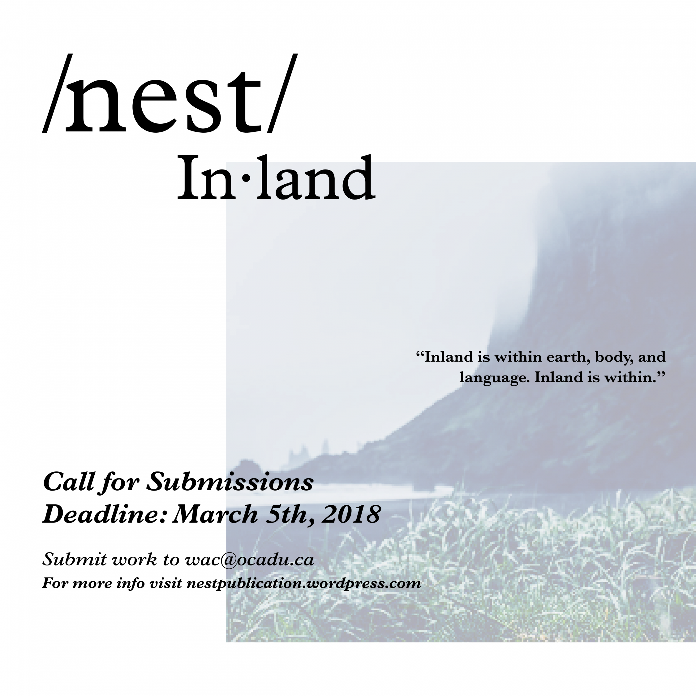 Nest Call for Submissions Deadline March 5, 2018