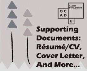 supporting documents résumé cv cover letter statements