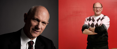 David Mirvish (left) and Daniel Solomon (right) today.