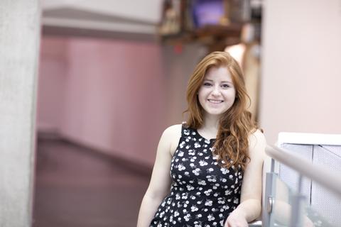 Cecelia Leddy at GradEx 2014. Photo by Christina Gapic.