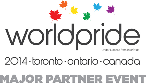 WorldPride 2014 logo courtesy Pride Toronto.