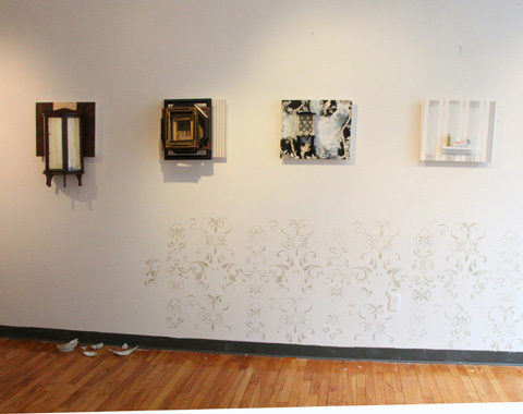 Works from the Cordial exhibition. Image provided by Heather Nicol