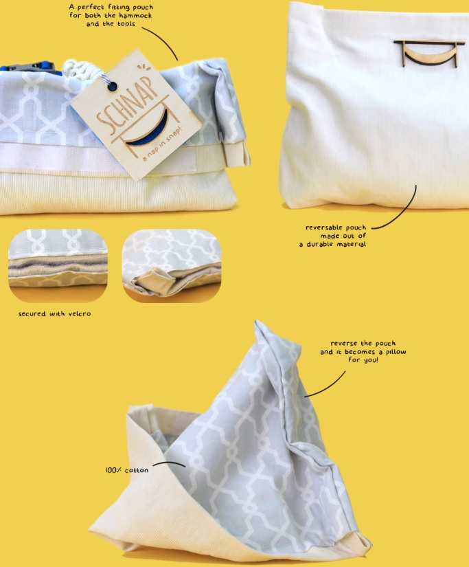 The Schnap – an under-the-desk hammock - packaging