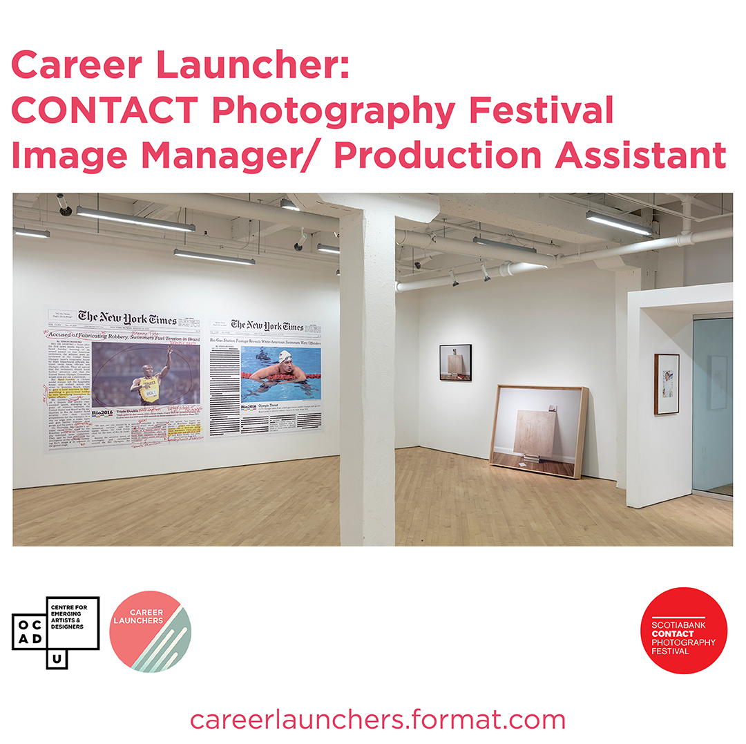 Scotiabank CONTACT Photography Festival is accepting applications for the full-time position of Image Manager/ Production Assist