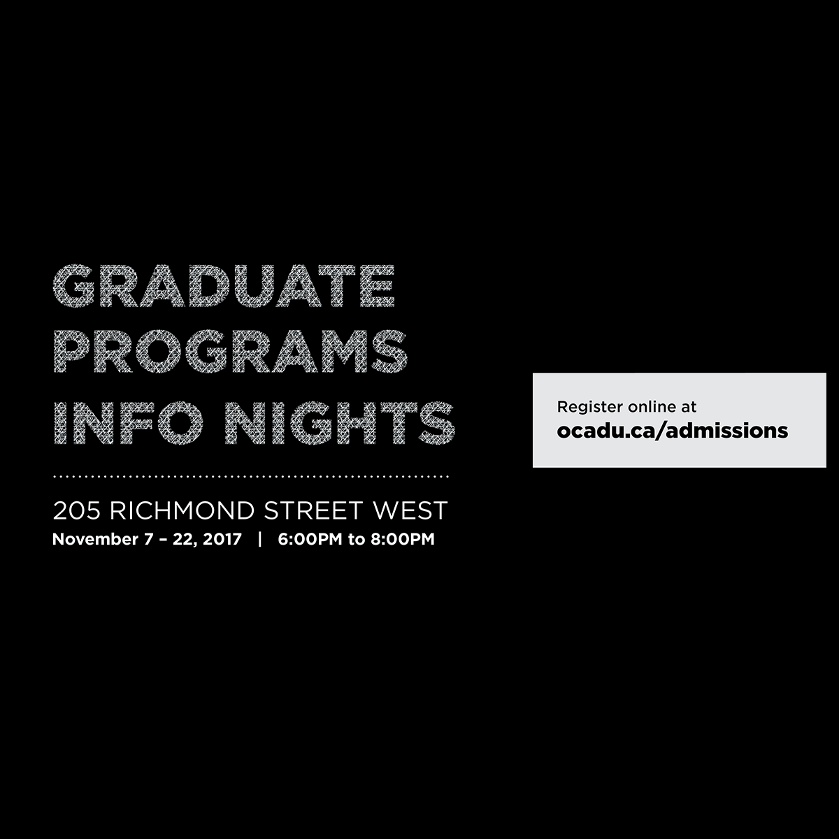 Graduate Programs Info Nights