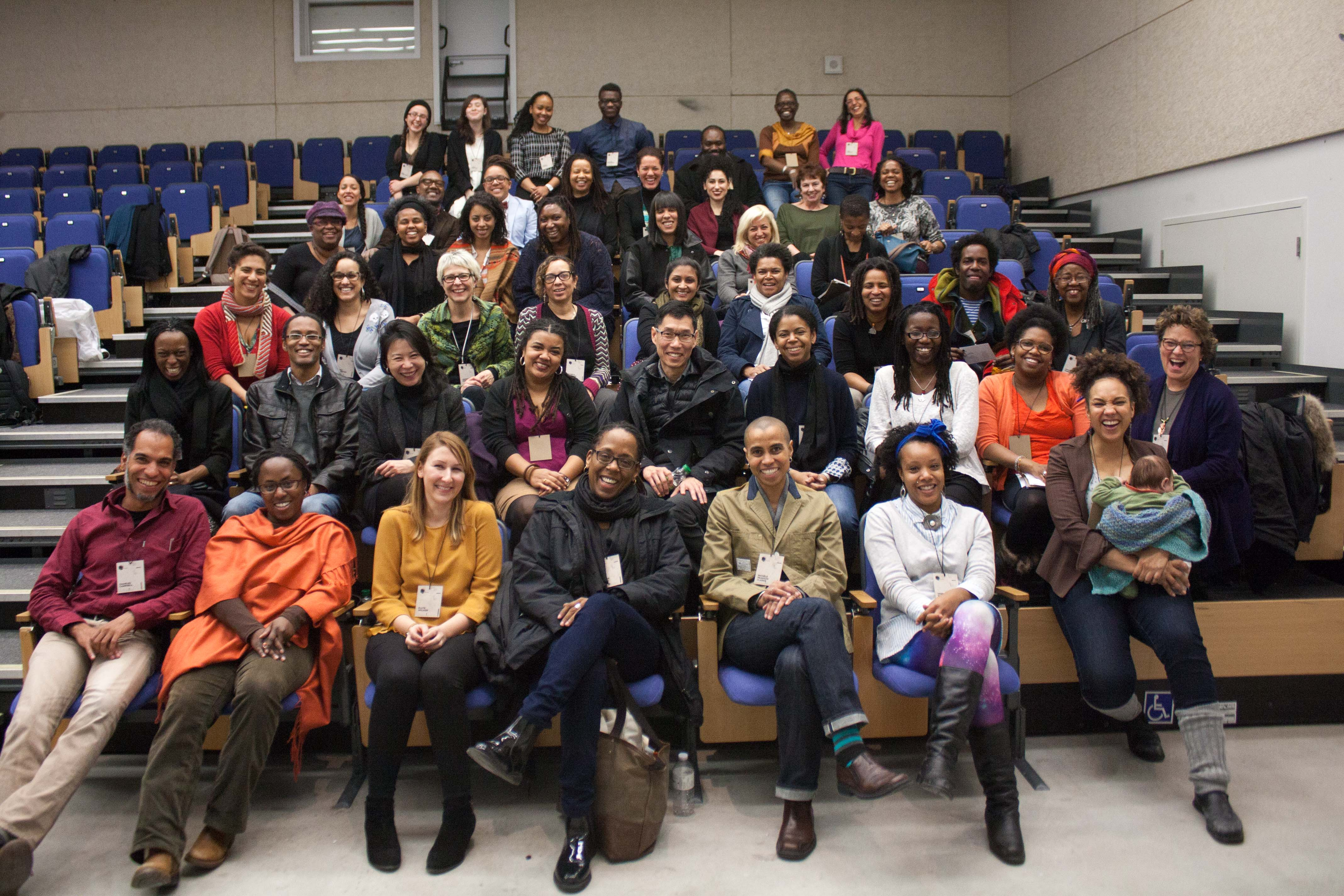Group photograph of participants at The State of Blackness Conference
