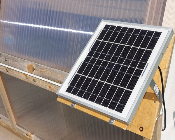 Image of a solar panel on a roof