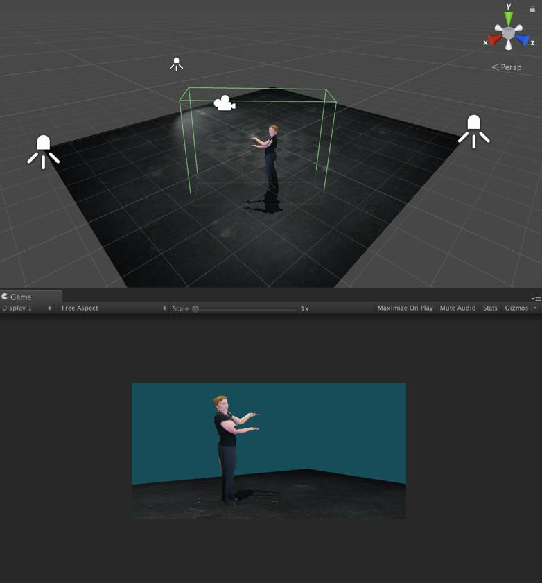 A screenshot of volumetric capture of a figure