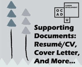 Supporting Documents: Resumé/CV, Cover Letter & Portfolio