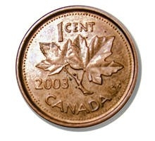 Image of a Canadian penny