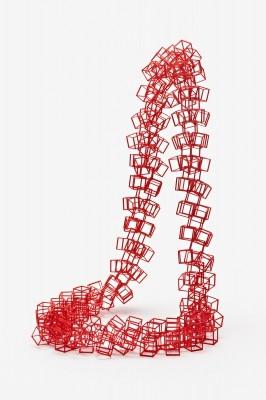Image: Bin Dixon-Ward, Framework Neckpiece. SLS nylon, hand-dyed