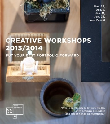 Event poster for Creative Workshops