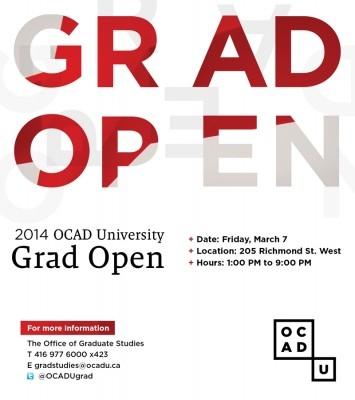 Grad Open Event poster