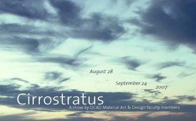 Cirrostratus at the Ontario Crafts Council Gallery
