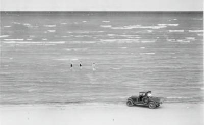 Going out to meet the rollers, Wasaga Beach, Photographer unknown, c. 1925, Ministry of Education