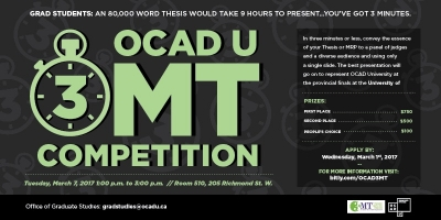 OCAD U 3MT Thesis Competition Web Banner
