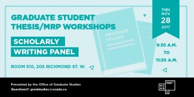 Scholarly Writing Panel Banner