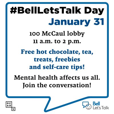 Bell Let's Talk Day at OCAD U