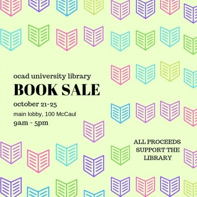 Book Sale October 21-25, 100 McCaul St.