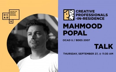 Mahmood Popal | Creative Professional-in-Residence Artist Talk