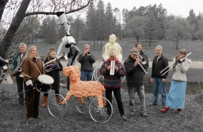 photo of musicians outdoors