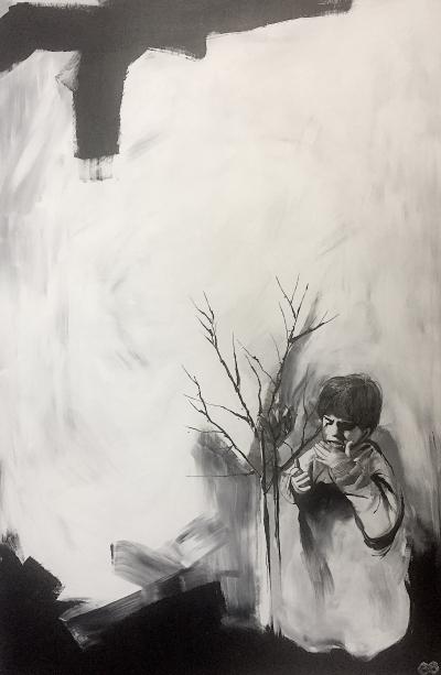 artwork with black tones