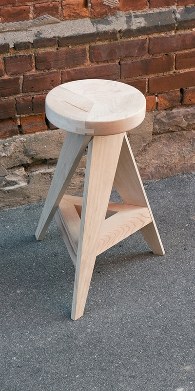 Angular Stool by Julia Lorimer