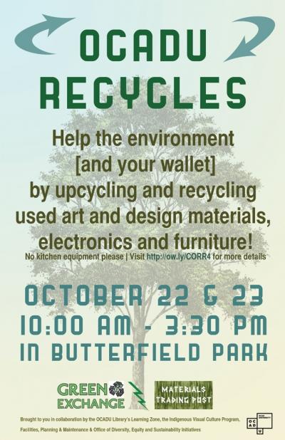 OCAD U Recycles Event Oct 22-23 Butterfield Park