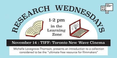 Research Wednesdays, 1 to 2pm in the Learning Zone, TIFF: Toronto New Wave Cinema