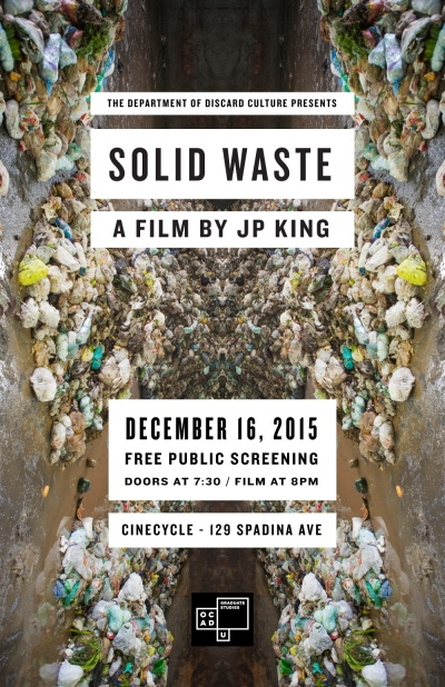 Solid Waste poster with image of garbage