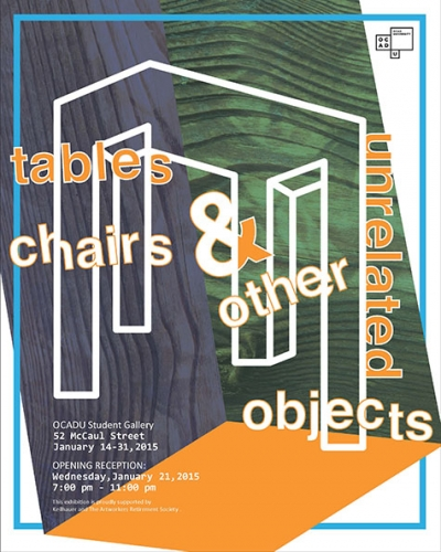 Poster with a diagram of a table