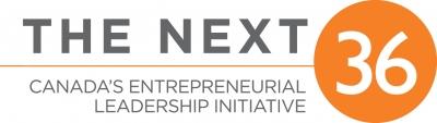 Logo with grey text and orange trim