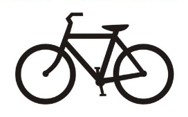 Illustration of a bicycle, black and white